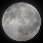 昨夜は満月を撮った。良い朧月だった…