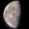 夜に朝に撮った半月と、田川建三博士の毎日出版文化賞受賞と…