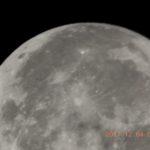 昨夜のスーパームーンを撮った。あと、オリオン座の日周運動を試し撮り…