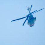 警察の大型ヘリ、シコルスキーS-92を撮った。あと、うちのうさぎは、コレに似ているんだなあ…