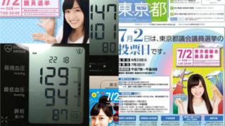 今日の血圧と投票日前夜