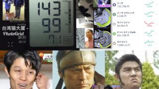 今日の仮想通貨と血圧と西郷どん