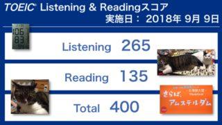 第233回TOEIC® Listening & Reading Testの結果 なんと一気に100ポイントアップ