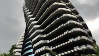 台北の超高級ねじれマンション