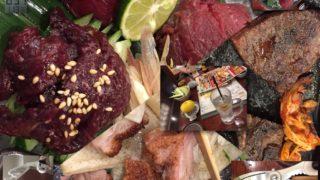 品川港南口にて鯨肉・牛タン・北京ダックを食す