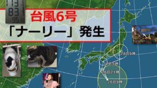 台風6号「ナーリー」の異常性