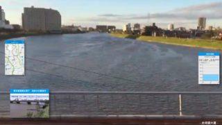 氾濫警報が出ていた中川の今日の様子