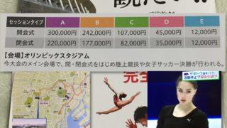 2020東京五輪開会式のチケット代は将棋の六段免状代以上
