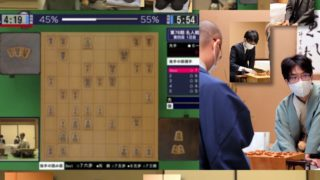 第78期名人戦七番勝負第4局1日目 難解な矢倉は私には形勢不明だが、持ち時間の100分差以上はキツい