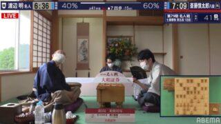 第79期名人戦七番勝負第5局1日目 今シリーズ初、序盤で斎藤慎太郎八段リード
