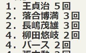 NPBにおける三冠王と言えば延べ11回7名だが、シン三冠王となると?